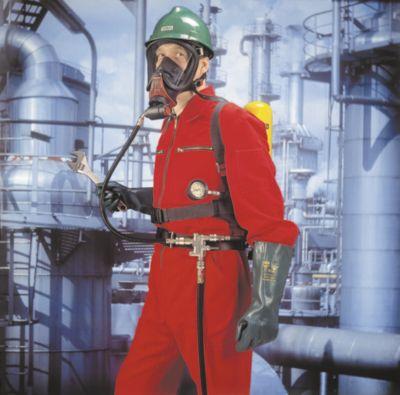 Equipos respiratorios con línea de aire comprimido y accesorios