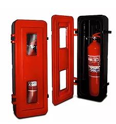Gabinete plástico ABS porta extintor PQS 10 kg o CO2 5kg